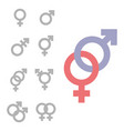 gender inequality and equality icon symbol male vector image