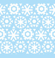geometric flat snowflake seamless pattern vector image vector image
