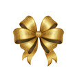 golden bow knot with five loop vector image