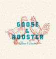 goose and rooster beer and snacks abstract vector image vector image
