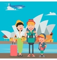 Happy Family Travelling to Europe vector image vector image
