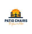 home patio furniture inspiration logo vector image vector image