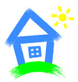 house on a white background vector image vector image