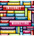 Internet Marketing tech pattern vector image vector image