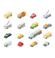 isometric set of city transport car icons vector image vector image