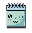 kawaii cute funny notebook tool vector image