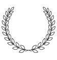 laurel wreath symbol vector image vector image