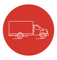 line art style truck icon vector image
