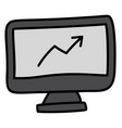 marketing analysis icon in doodle design vector image vector image