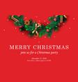merry christmas web template with christmas vector image vector image
