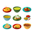 pictures indian national cuisine vector image