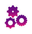 purple gears sign icon vector image vector image