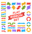 ribbons set banner decoration tags premium label vector image