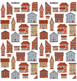 seamless flat house pattern-01 vector image vector image