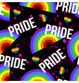 seamless pattern with bright pride lgbt vector image vector image