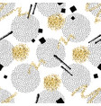 seamless pattern with round dotted circles golden vector image vector image
