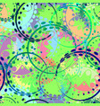 seamless texture from pastel gears and laurel vector image vector image