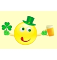 smile icon on Saint Patricks Day vector image vector image