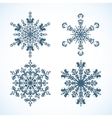 Snowflakes with monkey the symbol of 2016 vector image vector image