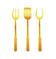 spatula and fork gold tools