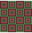 square green red seamless pattern vector image