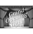 stage with curtain vector image vector image