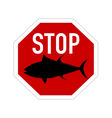 Stop sign tuna vector image vector image