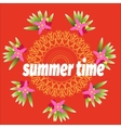 Summer time template for banner postcard with vector image vector image