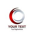 technology orbit web rings logo design circle vector image vector image