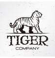 Tiger logo emblem template Brand mascot symbol vector image vector image