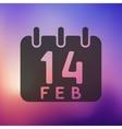 Valentine icon on blurred background vector image