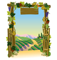 Vineyard Gate vector image