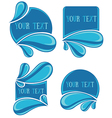 water stickers vector image vector image
