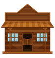 western style of shop vector image vector image