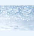 winter blue background with bokeh on christmas vector image vector image