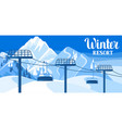 winter resort beautiful landscape vector image