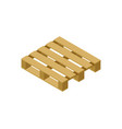 wooden pallet isometric 3d icon vector image