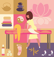 spa and beauty - body massage vector image