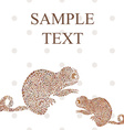 Abstract funny chameleon cartoon text vector image