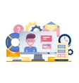 Customer Support - flat design vector image