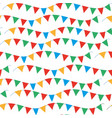 kids carnival seamless pattern with bunting vector image