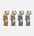 lawsuit judge symbol lady justice judgment vector image