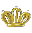 a shinning crown or color vector image vector image