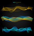 abstract blue and yellow smooth waves lines vector image vector image
