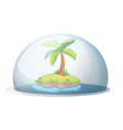 an island with a coconut tree vector image