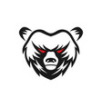 angry bear logo design vector image vector image