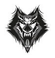 angry face of terrible wolf vector image vector image