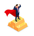 award for the best employee superhero concept vector image vector image