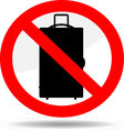 Ban luggage icon vector image vector image