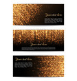 banners with golden lights vector image vector image